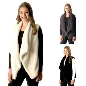 CP7520 Soft Faux Fur Vest