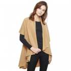 CP7530 Solid Basic Cape Shawl Vest, Camel