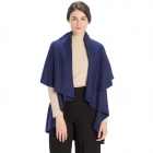 CP7530 Solid Basic Cape Shawl Vest, Deep Blue