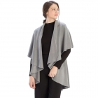 CP7530 Solid Basic Cape Shawl Vest, Grey