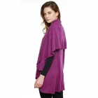 CP7530 Solid Basic Cape Shawl Vest, Purple