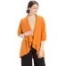 CP7530 Solid Basic Cape Shawl Vest, Pumpkin