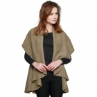 CP7530 Solid Basic Cape Shawl Vest, Taupe