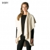 CP7530 Solid Basic Cape Shawl Vest