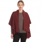 CP7530 [New Color] Solid Basic Cape Shawl Vest, Brick