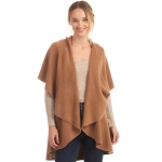 CP7530 [New Color] Solid Basic Cape Shawl Vest, Camel