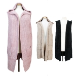CP7533 Soft Chenille Texture Hooded Vest