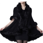 CP7538 Faux Fur-Trimmed Shawl Vest