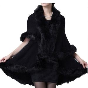 CP7538 Faux Fur-Trimmed Shawl Vest