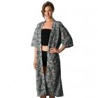 CP8554 Floral Print Kimono Long
