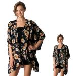 CP8559 Floral Print Kimono Cape