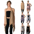 CP8566 Solid Jersey Vest Poncho