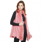 CP8603 Faux Fur Trimmed Solid Vest, Pink