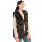 CP8626 Faux Fur Vest, Black