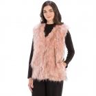 CP8626 Faux Fur Vest, Pink
