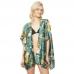 CP9509 Floral Kimono Cover Up, Green