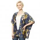 CP9509 Floral Kimono Cover Up, Navy