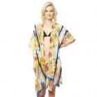 CP9512 Tropical Design Viscose Cover Up, Yellow