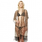 CP9518 Animal Print Lurex Kimono Cover Up