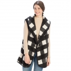 CP9905 Buffalo Plaid Vest with Hook, Black