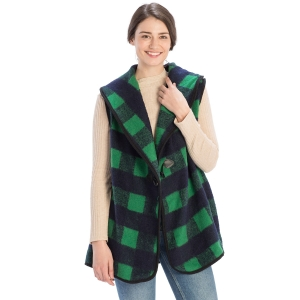 CP9905 Buffalo Plaid Vest with Hook, Green