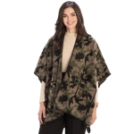 CP9918 Camouflage Pattern Cape With Pockets