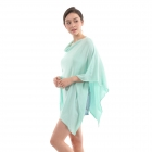 CP9921 Solid Light-weight Cashmere Poncho, Mint