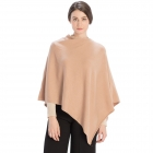 CP9921 Solid Light-weight Cashmere Poncho, Beige