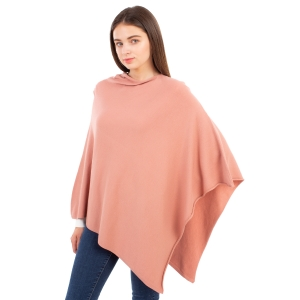 CP9921 [NEW] Solid Light-weight Cashmere Poncho, Indie.PK