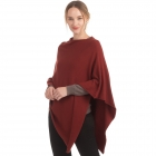 CP9921 Solid Light-weight Cashmere Poncho, Brick