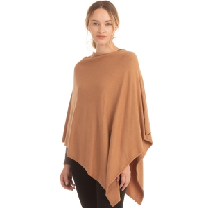 CP9921 Solid Light-weight Cashmere Poncho