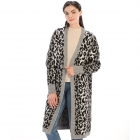 CP9927 Leopard Print Long Sleeve Cardigan, Black