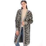 CP9927 Leopard Print Long Sleeve Cardigan, Black