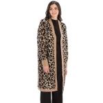 CP9927 Leopard Print Long Sleeve Cardigan, Brown