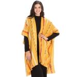 CP9932 Chain Print Kaftan Cape, Yellow