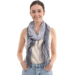 CS0006 Python Pattern Lightweight Scarf, Black
