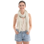 CS0008 Solid Color Lurex Scarf, Beige