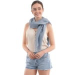 CS0008 Solid Color Lurex Scarf, Blue