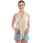 CS0008 Solid Color Lurex Scarf, Gold