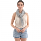 CS0008 Solid Color Lurex Scarf, Grey