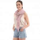 CS0008 Solid Color Lurex Scarf, Pink