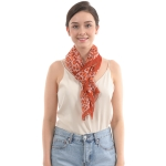 CS0010 Chiffon Animal Pattern Scarf, Red