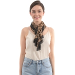 CS0010 Chiffon Animal Pattern Scarf, Tuape