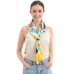 CS0018 Abstract Print Square Scarf, Yellow