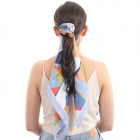 CS0027 Abstract Multi Color Pattern Scrunch & Scarf
