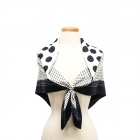 CS0034 Black Polka-dot Pattern Square Scarf