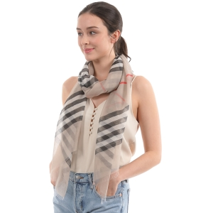 CS0035 Plaid Pattern Lightweight Scarf