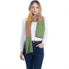 CS0147 Tri-Tone Knitted Winter Scarf, Green
