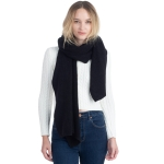 CS0155 Basic Solid Color Winter Scarf, Black