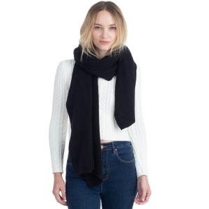 CS0155 Basic Solid Color Winter Scarf, Black